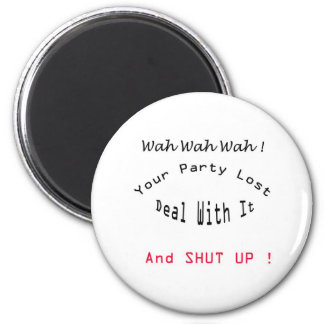 lost party 2 inch round magnet