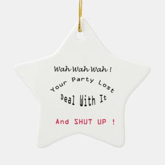 lost party ceramic ornament