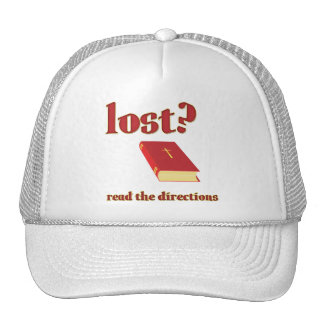 Lost? Read the Directions Bible Mesh Hat