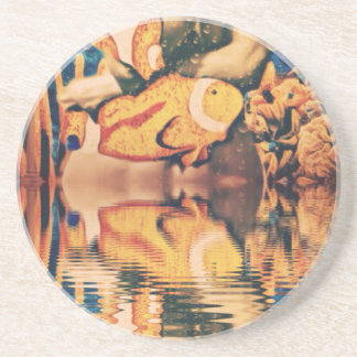Lost reality Woman under water Drink Coaster