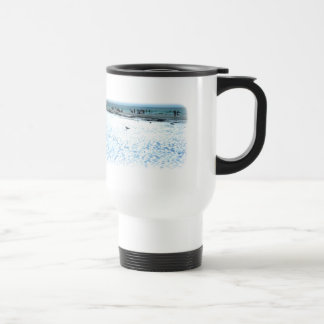 Lost Seagull on the Beach 15 Oz Stainless Steel Travel Mug
