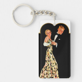 Lost Suspender Double-Sided Rectangular Acrylic Keychain
