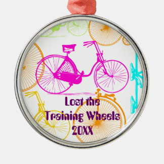 Lost the Training Wheels Bike Keepsake and Year Metal Ornament
