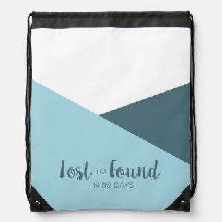 Lost to Found in 90 Days Colorblock Drawstring Backpack