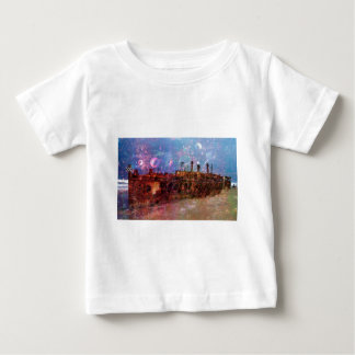 LOST TO THE RAVAGES OF TIMEship ship wreck shipwre Baby T-Shirt