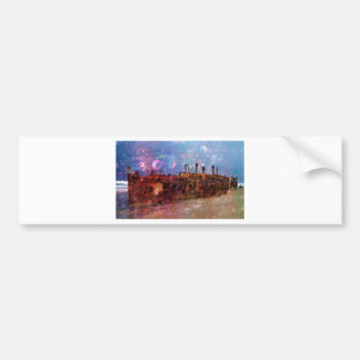 LOST TO THE RAVAGES OF TIMEship ship wreck shipwre Bumper Sticker