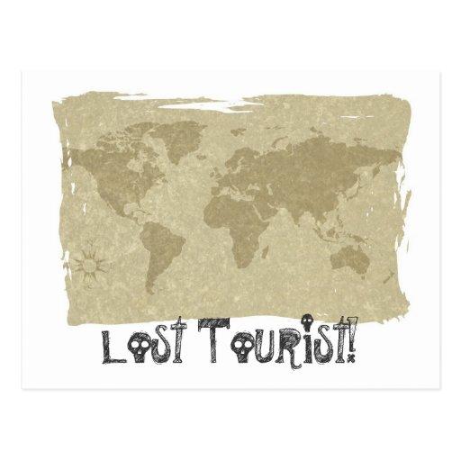 Lost Tourist! postcard