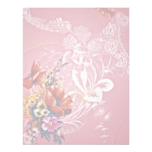 Lost tradition Yellow flowers Personalized Letterhead