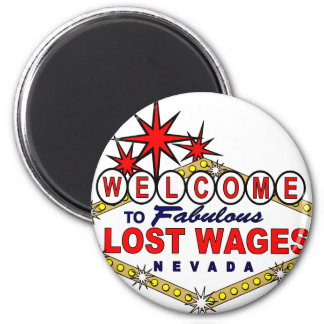 Lost Wages NEVADA 2 Inch Round Magnet