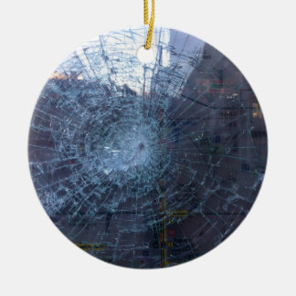 Lost -- with Broken Glass and Map Ceramic Ornament