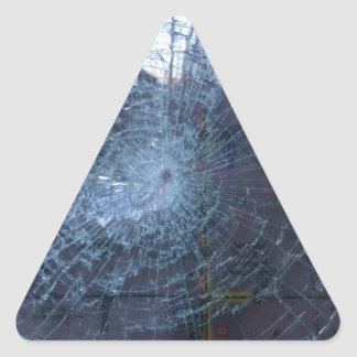 Lost -- with Broken Glass and Map Triangle Sticker