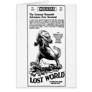 Lost World 1925 Arthur Conan Doyle novel Card