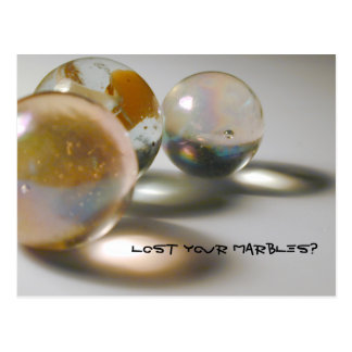 Lost Your Marbles? Postcard