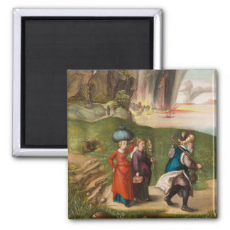 Lot and His Daughters by Albrecht Durer 2 Inch Square Magnet