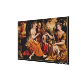 Lot and his Daughters, c.1565 Canvas Print