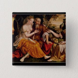 Lot and his Daughters, c.1565 Pinback Button