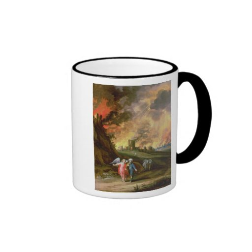 Lot and His Daughters Leaving Sodom Coffee Mugs