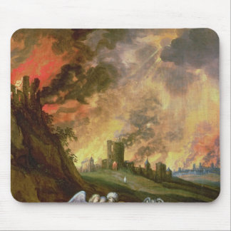 Lot and His Daughters Leaving Sodom Mouse Pad