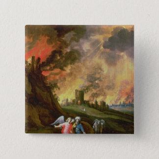 Lot and His Daughters Leaving Sodom Pinback Button
