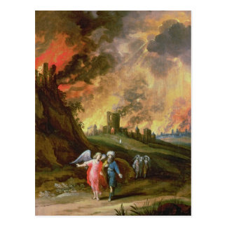 Lot and His Daughters Leaving Sodom Postcard