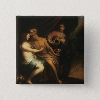 Lot and his Daughters (oil on canvas) 3 Button