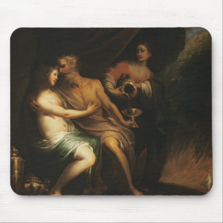 Lot and his Daughters (oil on canvas) 3 Mouse Pad
