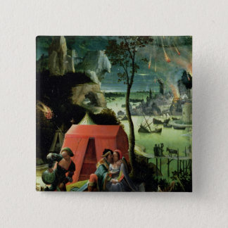 Lot and his Daughters (oil on panel) Button