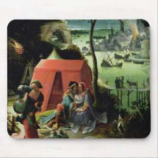 Lot and his Daughters (oil on panel) Mouse Pad