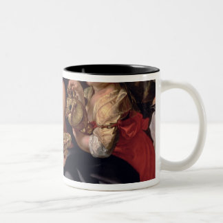 Lot and his daughters Two-Tone coffee mug