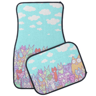 Lot Cats Car Mat