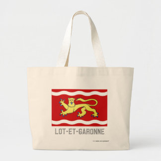 Lot-et-Garonne flag with name Tote Bags