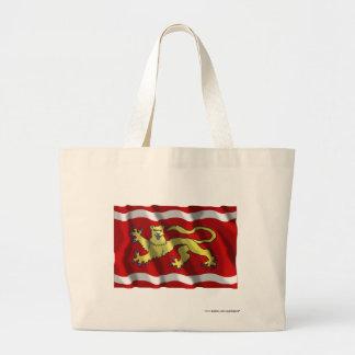 Lot-et-Garonne waving flag Canvas Bags