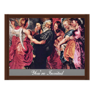 Lot Left Sodom With His Family By Rubens Peter Custom Invitation