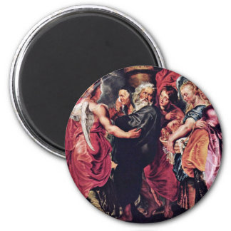 Lot Left Sodom With His Family By Rubens Peter Fridge Magnet