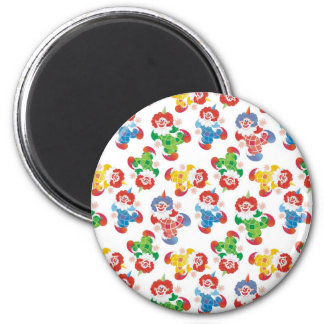 lot of funny clowns 2 inch round magnet