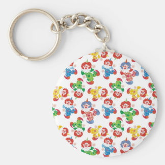 lot of funny clowns basic round button keychain