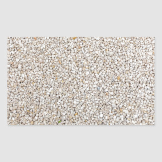 Lot of grey gravel stones as background rectangular sticker