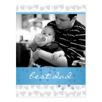lot of hearts for best dad ever postcard
