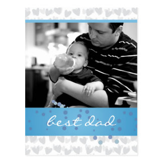 lot of hearts for best dad ever postcards