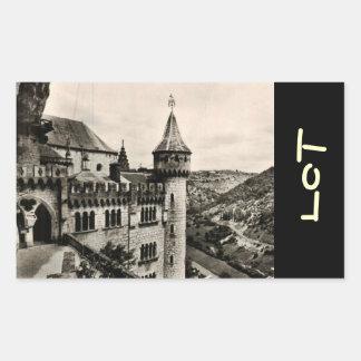 Lot ROC Amadour Religious City France 1950 Rectangular Sticker