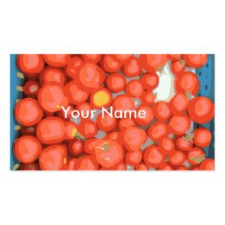 Lotes del tomate, maduro y jugoso tarjetas de visita