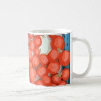 Lotes del tomate maduro y jugoso taza
