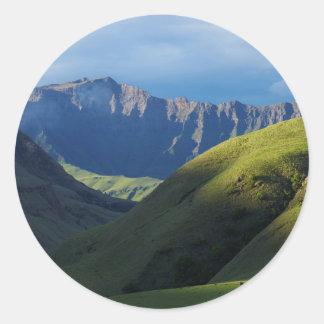 Lotheni, Ukhahlamba/parque de Drakensberg Pegatina Redonda