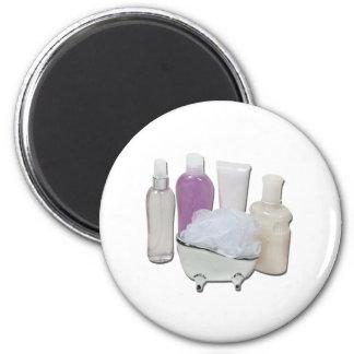 LotionCreamScrubberTub123111 2 Inch Round Magnet