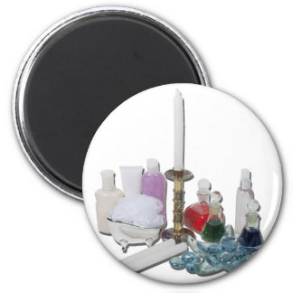 LotionPotionCandlesRelaxation123111 2 Inch Round Magnet
