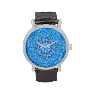 loto azul reloj de mano