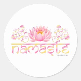 Loto de Namaste nuevo Pegatina Redonda