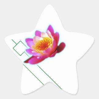 Loto del art déco pegatina en forma de estrella