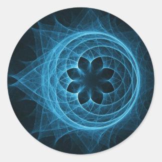loto espiral cruzado de la esfera del rayo pegatina