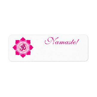 Loto rosado etiqueta de remite